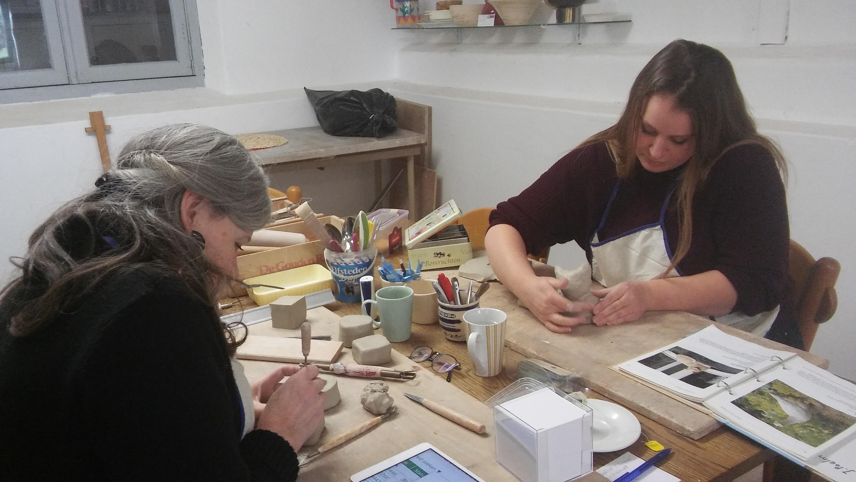 Handvormen met klei